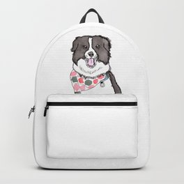 Border Collie with Bandana Backpack