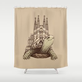 Slow Architecture Shower Curtain