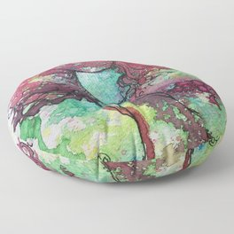 Carefree and Wild Floor Pillow