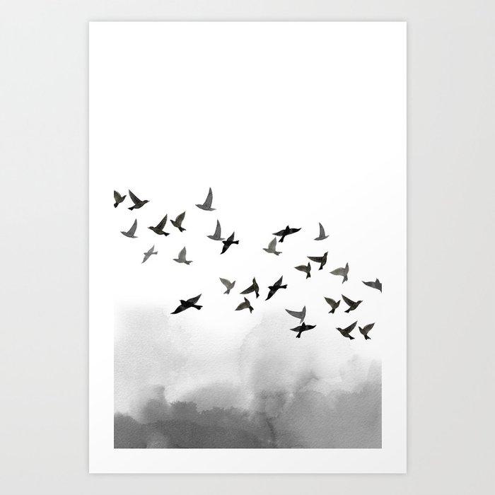 Descubre el motivo BIRD FLOCK de Art by ASolo como póster en TOPPOSTER
