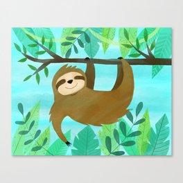 Cute Sloth Canvas Print