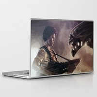 aliens Laptop & iPad Skins featuring Aliens by Jehzbell Black