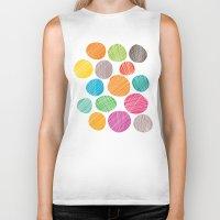 circles Biker Tanks featuring Circles by Colorshop