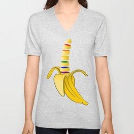 Gay Pride Banana Unisex V-Neck