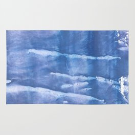 Steel blue clouded wash drawing paper Rug