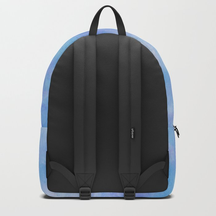 Sky blue wolf with Golden eyes Backpack