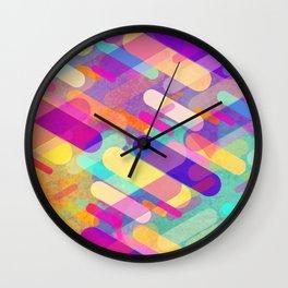 Abstract Color Rain Wall Clock