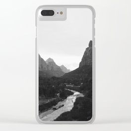 Zion black and white Clear iPhone Case