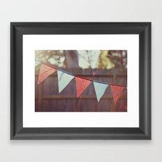 Banner Year Framed Art Print
