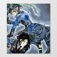black butler Canvas Prints featuring Black Butler by Abbie James