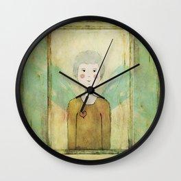Angel in the Mirror Self Portrait Wall Clock