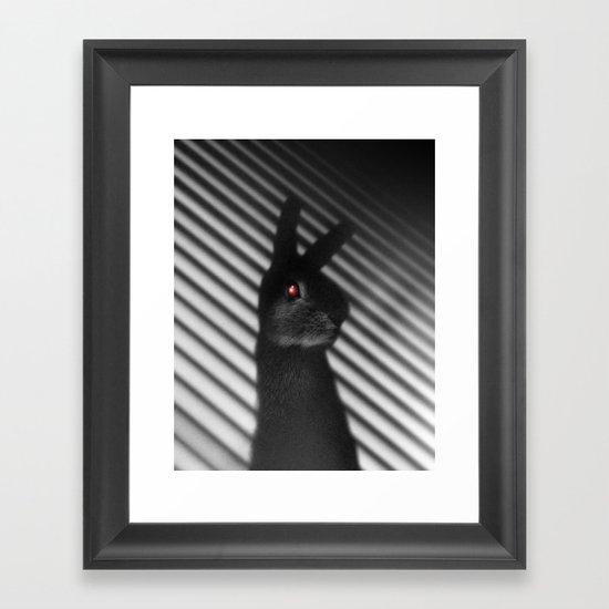 Shadow Bunny Framed Art Print