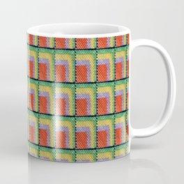 pattern orange yellow green Coffee Mug