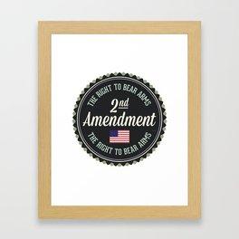 Second Amendment Framed Art Print