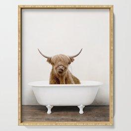 Highland Cow Bath (c) Serving Tray