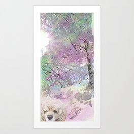 Snow Dog (for Philippa) Art Print
