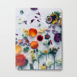 Assorted Flowers Metal Print