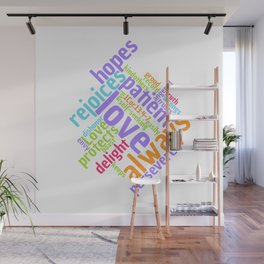 LOVE IS PATIENT 1 CORINTHIANS Word Art Wall Mural