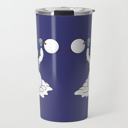 Weightlifting Snowman Travel Mug