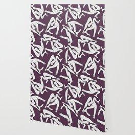Picasso Pattern - Purple Background Wallpaper
