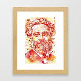 JULES VERNE - watercolor on paper Framed Art Print