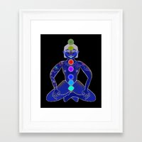 yoga Framed Art Prints featuring YOGA by Gianluca Floris