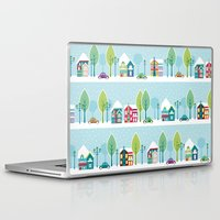 house Laptop & iPad Skins featuring Ski house by Polkip