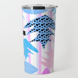 Leaf mix in pink and blue Travel Mug