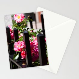 Flowers and Wrought Iron Stationery Cards