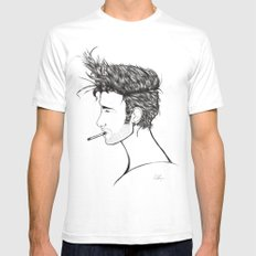 Boy SMALL White Mens Fitted Tee