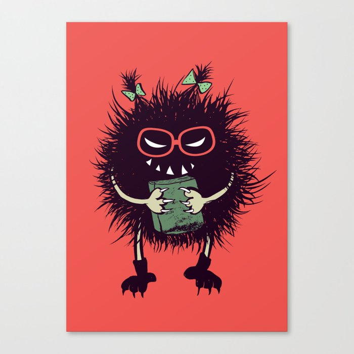 Evil Bug Student Loves To Read Canvas Print