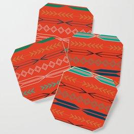 Navajo motifs in red Coaster