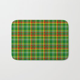 Green Red Yellow and White Plaid Bath Mat