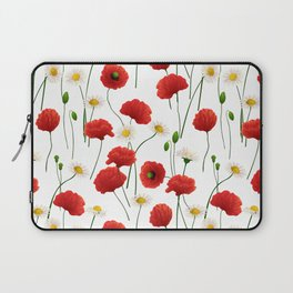 Poppies and daisies Laptop Sleeve