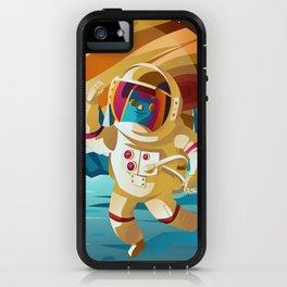 astronaut jumping on europe jupiter satellite surface iPhone Case