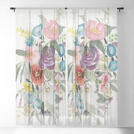 Loose Bouquet no. 3 Sheer Curtain