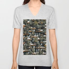 Bosco Verticale, Vertical Forest, Milan Residential Towers, Modern Building, Trees, Shrubs, Floral Plants Unisex V-Neck