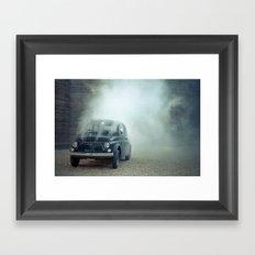 cloud car Framed Art Print