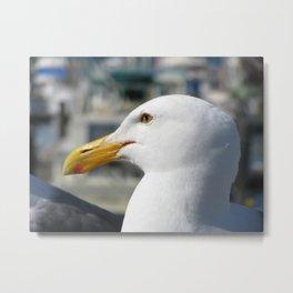 Bird by the Sea Metal Print