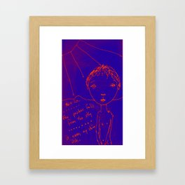 The Blue Itch Framed Art Print