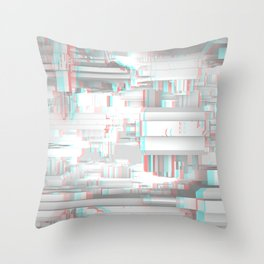 3D Stereoscopic Futuristic Architecture White Space Ship Science Lab Throw Pillow