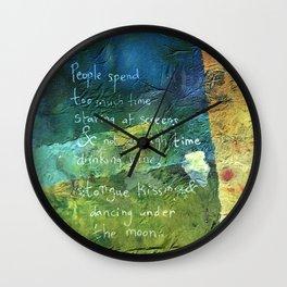 Moon made Me Wall Clock