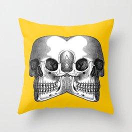 Double Trouble /YELLOW Throw Pillow