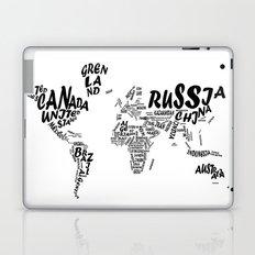 world map typography 2 Laptop & iPad Skin