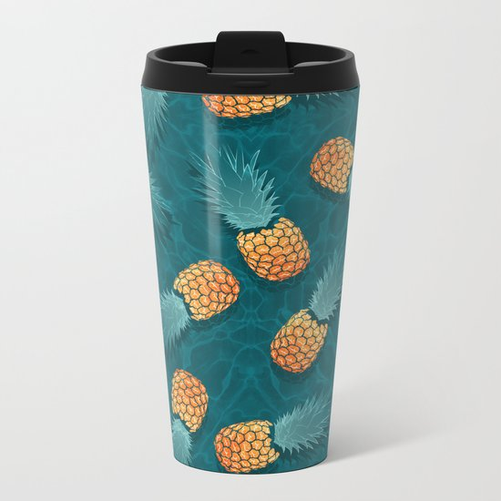 Pineapples swimmers I Metal Travel Mug