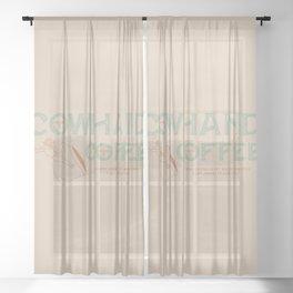 Cowhand Coffee - Mint, Mauve & Cream Sheer Curtain