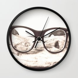 Hipster Ray-Bans Wall Clock