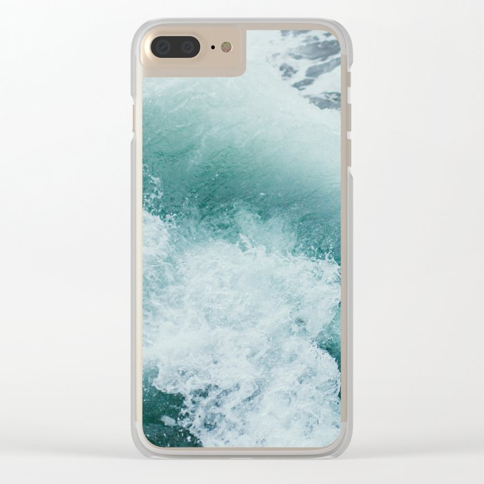 Circle Sea Clear iPhone Case