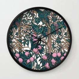 Walter Crane's Macaws and Fruit Wall Clock