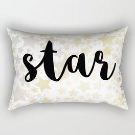 Golden Stars Rectangular Pillow